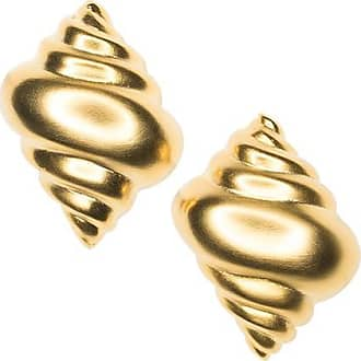 Kenneth Jay Lane Gold Cage Clip Earrings Gold/amy