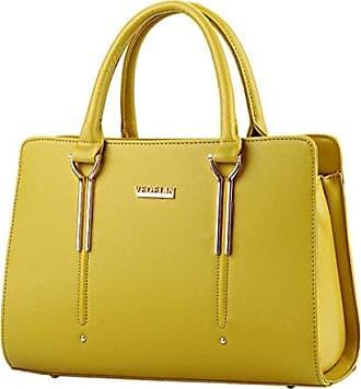 Mode Damen Leder Crossbody Schulter Handtaschen Geldb?RSE 13 W x 9 H x 5.5 D Grau YUNA