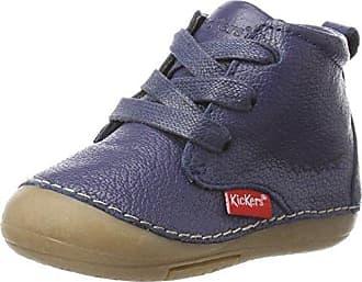Kickers 509143-10-10 - Primeros Pasos de Otra Piel Unisex bebé, Azul (Azul (Marine 10)), 25 EU