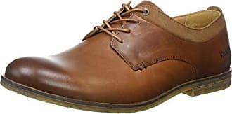 Kick Wall B Lthr Am, Zapatos de Cordones Derby para Hombre, Marrón (Mid Brown/Black), 41 EU Kickers