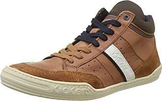 Kickers Pharacus, Sneakers Hautes Hommes, Marron (Marron Foncé Marine), 41 EU