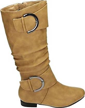 Klassische Damen Stiefel Gef tterte Boots Wildleder Optik 820252 Schuhe