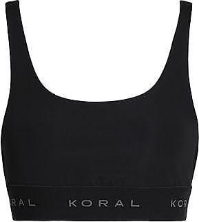 Koral Woman Coated Stretch Sports Bra Black Size M Koral