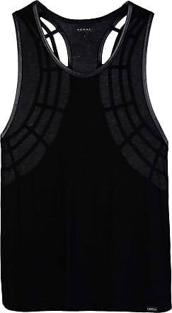 INTERVAL DOUBLE LAYER TANK IN TENCEL AND MESH FABRIC - TOPWEAR - Tops Koral