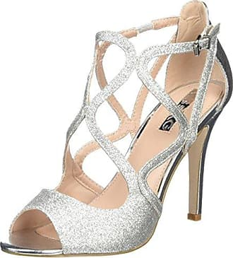 Annya, Zapatos de Tacón con Punta Cerrada para Mujer, Plateado (Pewter), 37 EU Kurt Geiger