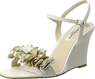 127103 Renda, Sandales Bout Ouvert Femme - Multicolore - Mehrfarbig (White), 39Buffalo