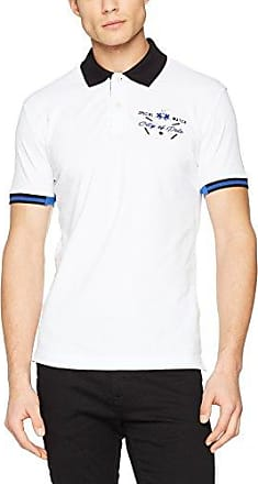 Compact Jer, Camiseta para Hombre, Blanco (Optic White/Navy S0043), L La Martina