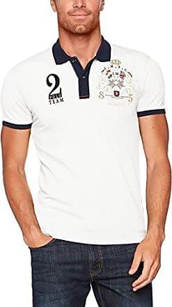 Compact Jer, Camiseta para Hombre, Blanco (Optic White/Black S0069), Small La Martina