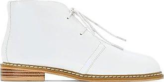 La Redoute Collections Frau Desert Boots in Lackoptik Gre 39 Weiss