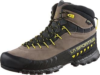 La Sportiva TX 4 Mid Gtx® Rot-Grau, Herren Gore-Tex® Hiking- & Approach-Schuh, Größe EU 38 - Farbe Carbon-Flame Herren Gore-Tex® Hiking- & Approach-Schuh, Carbon - Flame, Größe 38 - Rot-Grau
