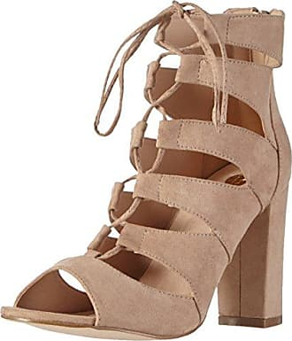 La StradaNatural Suede Leather Look Sandal - Sandali a Punta Aperta Donna, Beige (Beige (2206 - Micro Natural)), 36