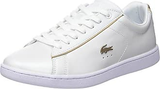 Lacoste Carnaby Evo 118 6 SPW, Baskets Femmes, Blanc (WHT GLD),