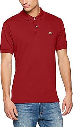 Lacoste L1312 - T-shirt - Homme - Rouge (Bordeaux) - Taille: L