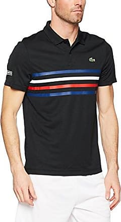 Lacoste Sport DH3138, Polo Homme, Noir (Noir/Marino-Blanc-Rouge), Small (Taille Fabricant: 3)