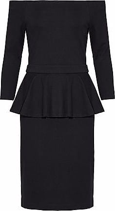 Lagence Woman Fluted Ponte Dress Black Size M L'agence
