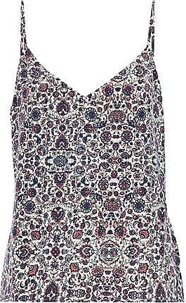 Lagence Woman Printed Silk Crepe De Chine Camisole Brick Size S L'agence