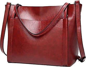 EQ0889 Damen Braun Leder Handtaschen Satchel Tote Taschen Schultertaschen,30X12X31CM(LxBxH) Dissa