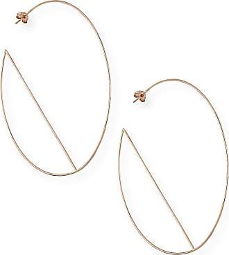 Lana Jewelry 14k Diagonal Hoop Earrings
