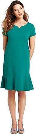 Jersey-Shirtkleid mit Volant-Saum in Normalgröße - Pink - 32-34 von Lands End Lands End