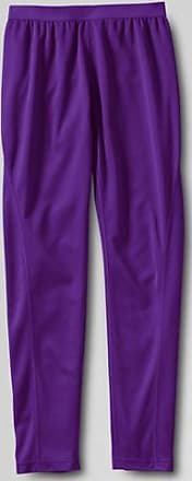 Little Girls Thermaskin Heat Midweight Thermal Pants - 4 years - PURPLE Lands End
