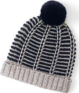 Womens Fine Gauge Cable Knit Beanie Hat - LXL - WHITE Lands End