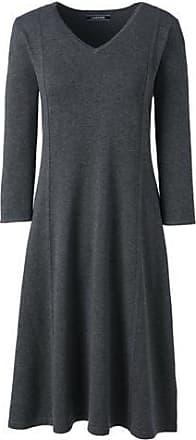 Womens Petite Supima Fine Gauge Knitted Dress - 16-18 - BLUE Lands End