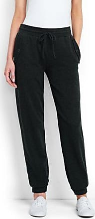 Womens Petite Luxe Fleece Joggers - 14-16 - BLACK Lands End