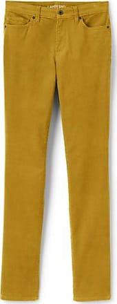 Womens Petite Mid Rise Slim Leg Cord Jeans - 14/16 26 - BLUE Lands End