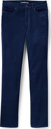 Womens Petite Mid Rise Slim Leg Cord Jeans - 14/16 26 - BLUE Lands End