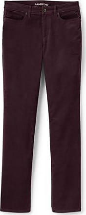 Womens Petite Mid Rise Straight Leg Cord Jeans - 14/16 26 - RED Lands End