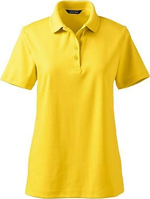 Womens Regular Detailed Collar Pima Polo - 16-18 Lands End