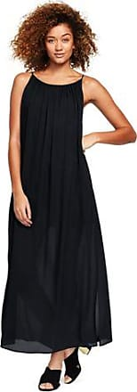 Womens Silk Georgette Maxi Dress - 14-16 - BLACK Lands End