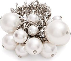 Faux-pearl and crystal-embellished ring Lanvin