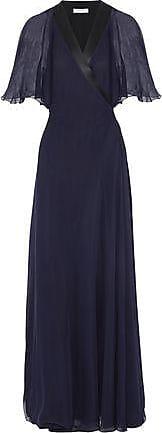 Lanvin Woman Crepe Gown Midnight Blue Size 36 Lanvin