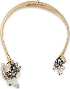 Lanvin Woman Gold-tone Crystal And Glass Necklace Gold Size Lanvin
