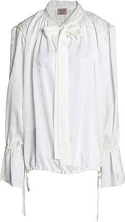 Lanvin Woman Pussy-bow Striped Silk-chiffon Blouse Black Size 34 Lanvin