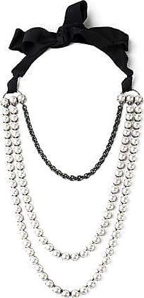 Lanvin Woman Silver-tone, Cord, Resin And Crystal Bracelet Blush Size Lanvin