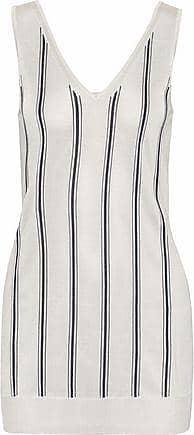 Lanvin Woman Striped Open-knit Top Ivory Size XS Lanvin