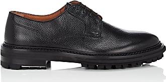 Mens Gore-Detail Leather Derbys Lanvin