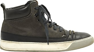 Pre-owned - Leather high trainers Lanvin