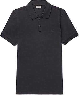 Lanvin Woman Waffle-knit Polo Shirt Black Size L Lanvin
