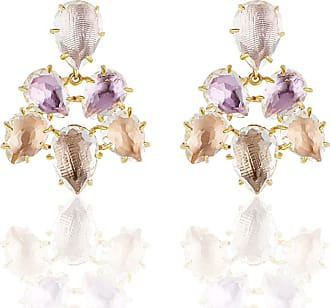 Larkspur & Hawk Caterina Chandelier Earrings in Ballet, Rose, Bellini & Fawn Foils