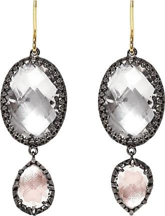 Larkspur & Hawk Olivia Convertible Small Drop Earrings in Dove Foil
