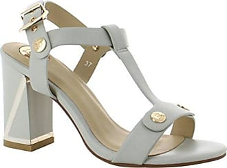 Laura Biagiotti Tara, Zapatos de Tacón con Punta Abierta para Mujer, Beige (Sand 11), 36 EU