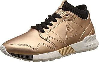 Omicron W S Lea Metallic, Baskets Basses Femme, Rose (Rose Gold/Black), 38 EULe Coq Sportif