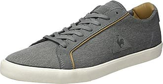Mens Offcourt Leather Suede Bass Trainers, Dress Blue Le Coq Sportif