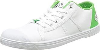 Le Temps DES CerisesBasic 02 Slide - Botas de Caño bajo Mujer, Blanco (Blanc (Slide Green)), 40 EU