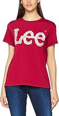 Lee Logo tee, Camiseta para Mujer, Rojo (Biking Red), Medium