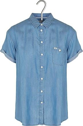 Kurzärmliges, weich fallendes Denim-Hemd mit klassischem Kragen Lee