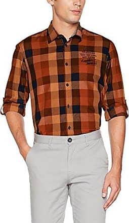 Herren Hemd, Chemise Casual Homme, Orange (Soft Copper 941), XXLLerros